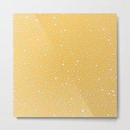 yellow spots pattern Metal Print