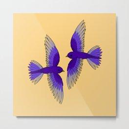 Purple Martins Metal Print