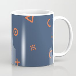 Happy Particles - Dark Blue Coffee Mug