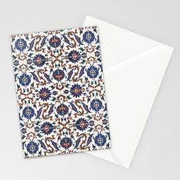 Iznik Pattern Red Blue White Stationery Cards