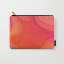 Colorful Pink Abstract Art Design Carry-All Pouch