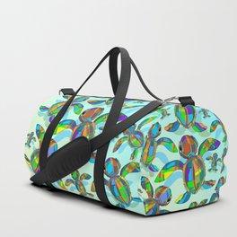 Baby Sea Turtle Fabric Toy Duffle Bag