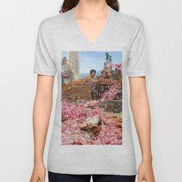Lawrence Alma-Tadema - The Roses Of Heliogabalus - Digital Remastered Edition Unisex V-Neck