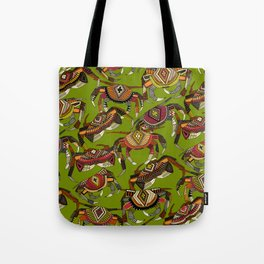 crabs lime Tote Bag