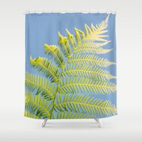 fern Shower Curtains featuring Fern by Pati Designs