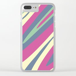 Abstraction. Camouflage. Colored bends. Clear iPhone Case