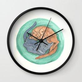 Lazy Cats - Watercolor Wall Clock
