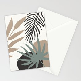 Abstract Modern Leaves Stationery Cards