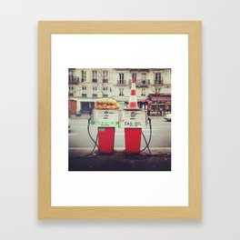 Roadside Gas Pumps Framed Art Print