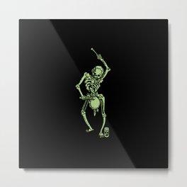 Green Faust Skeleton I Metal Print