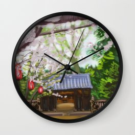 Cherry trees in Japan Wall Clock