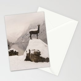 The Stag At Lake Bohinj Stationery Cards
