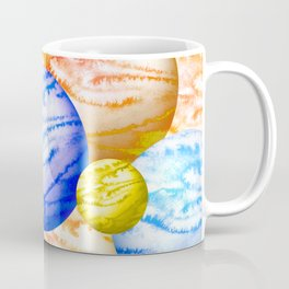 Illustration of watercolor round planet Coffee Mug