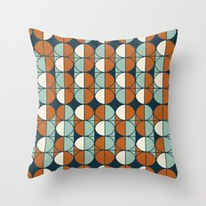 Retro pattern Throw Pillow
