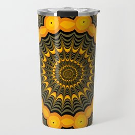 Spider webs, Halloween fractal art Travel Mug