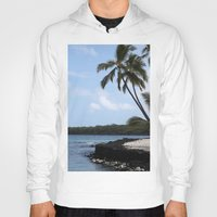 palms Hoodies featuring Palms by Whitebird Photography