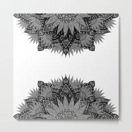 'Zentopia' Black & White Mandalas Metal Print