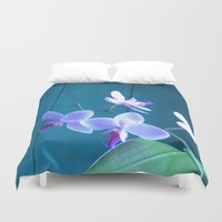 orchid Duvet Covers featuring Orchid by Cyrille Savelieff