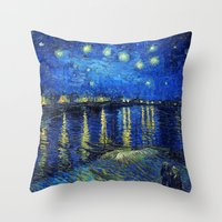 van gogh Throw Pillows featuring Van Gogh by Palazzo Art Gallery