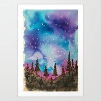 Purple afternoon Art Print
