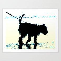 Blues Dog Art Print