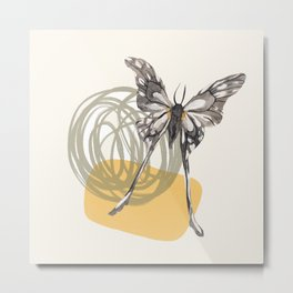 Watercolor Moth No. 9 Metal Print
