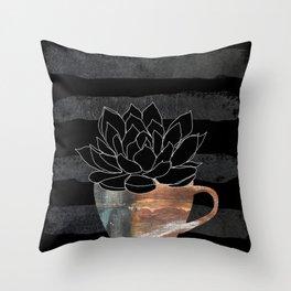 Scandi Plant 3 Succulent Throw Pillow