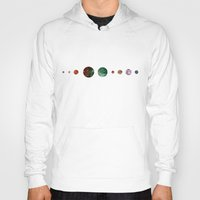 solar system Hoodies featuring Another solar system by ShaMiLa