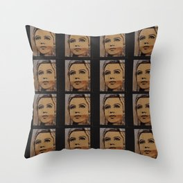 Edie Sedgwick Throw Pillow