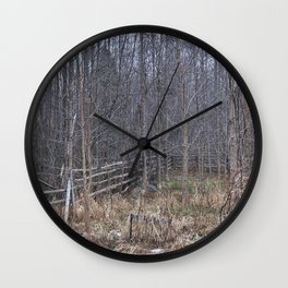 Fenced-in and Neglected Wall Clock