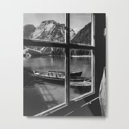 Through the Window (Black and White) Metal Print