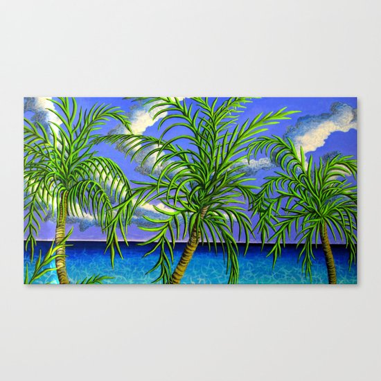 palms and sea Canvas Print