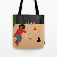 tarot Tote Bags featuring Tarot Cards by Akujixxv