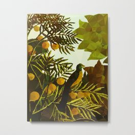 Bird in Tropical Jungle After Rousseau Metal Print