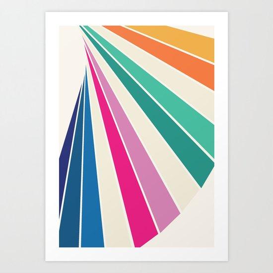 Fan of Color Art Print