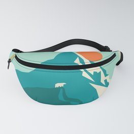 As the sun rises over the peak Fanny Pack