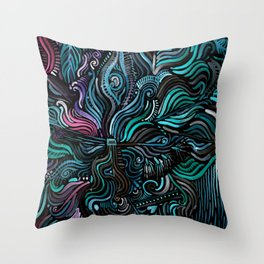 Grain and Flow Throw Pillow