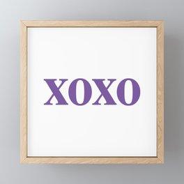 Purple XOXO Framed Mini Art Print