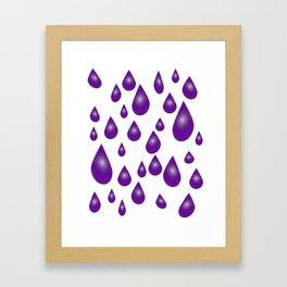 Purple Raindrops Framed Art Print