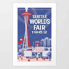 Seattle 1962 World's Fair Vintage Poster Art Print