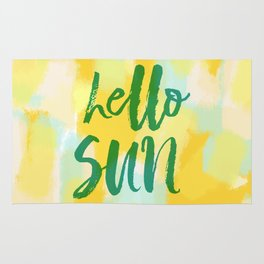 Hello Sun - Sunny yellow abstract Rug