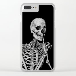 Silence please Clear iPhone Case