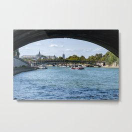 View from under the Pont Royal - Paris Metal Print