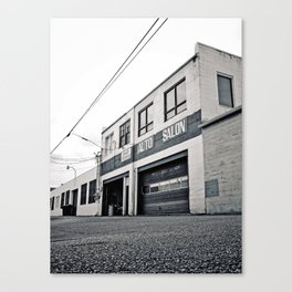 South Tacoma Auto Salon Canvas Print