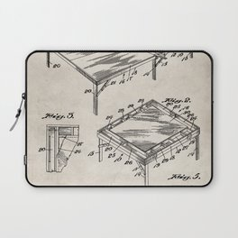 Table Tennis Patent - Tennis Art - Antique Laptop Sleeve