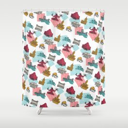 Detroit In Color Shower Curtain
