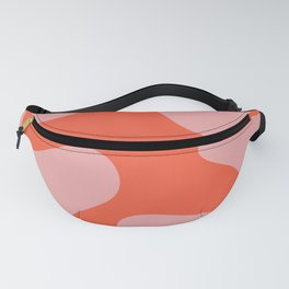 Wavy Land - Pink And Red Fanny Pack