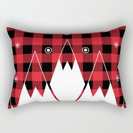 Red Buffalo Plaid Mountains Rectangular Pillow