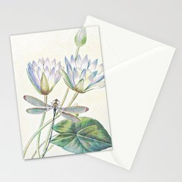 lotus and dragonfly Stationery Cards