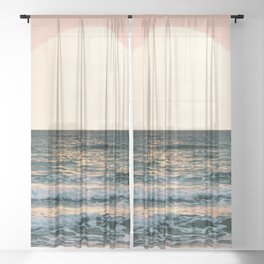 Summer Sunset Sheer Curtain